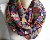 Bookshelf Infinity Scarf, Book Scarf, Library Scarf, BooksAccessories, Gift for Her