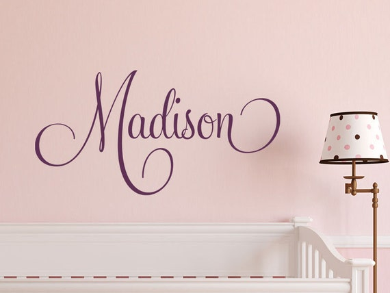 Girls Nursery Name Wall Decal - Personalized Girls Name Decal - Baby Girls Name Decals