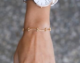 Tiny chain bracelet - Bars