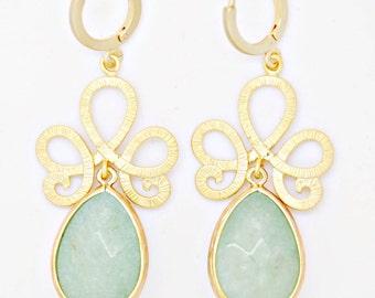 Delicate earrings - Mint