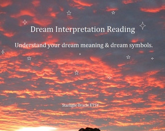 Dream Interpretation - Dream Analysis Plus 1 Oracle Card Reading
