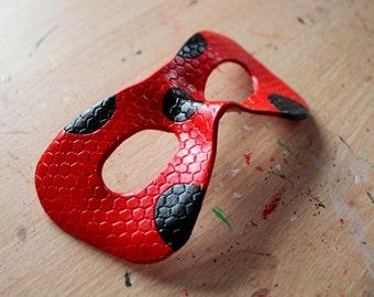 Miraculous Ladybug leather mask - Made to Order