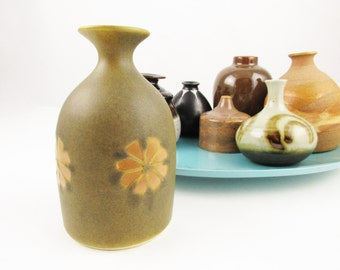 A Small Mouth Vase - Flat Matte Glazed Deep Army Green - Art Pottery - Studio Pottery - Center Glazed - Great Colors
