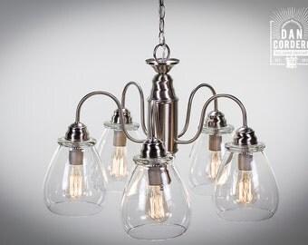 Edison Bulb Chandelier - Pear