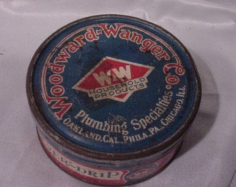 Cool Old Advertising Tin from Woodward-Wanger OCA PA and IL