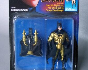 Vintage 1990 Tec-Shield  Batman MOC C8 - Dark Knight Collection