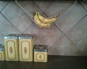 The Original Banana Hammock - Natural Fiber Crochet Cotton Fruit Hammock (Tan)