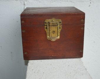 On Sale from 39: Vintage Corbin Mahogany Wood Storage Box