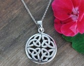 Celtic knot necklace, Everlasting love knot, celtic knot medallion, celtic knot Pendant, most popular Celtic friends sisters gift, 072