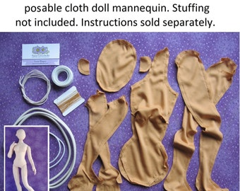 Handmade Miniature Cloth Dolls Patterns  by PrairieCrocusStudio