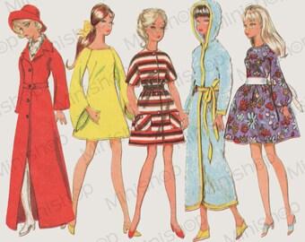 Barbie doll Sewing Pattern: 2123