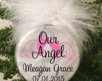 Memorial Ornament, Baby Angel, Infant Loss Awareness, Heaven has a new Angel, Born into Heaven, Pregnancy Loss