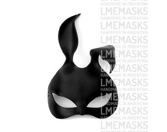 Bunny Black Rabbit Leather Mask Sexy Playboy Masquerade Erotic Fetish Halloween Catwoman Costume Carnival Lady Gaga Party Ball Eyewear Hot