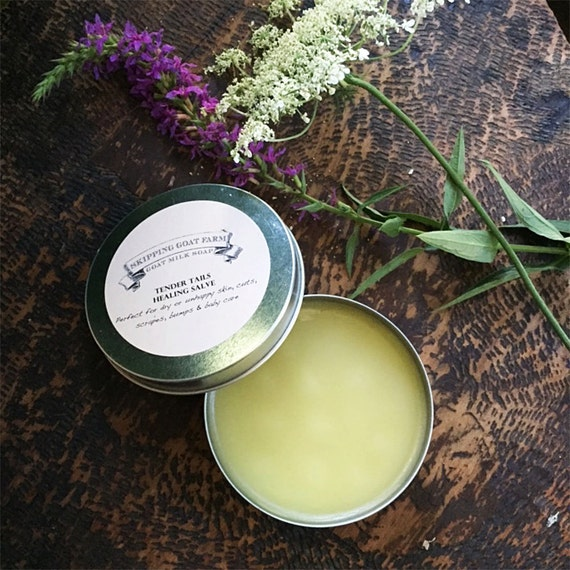 A Little Love, Organic Calendula Salve for dry, chapped or injured skin, soothing baby skin, 4oz tin