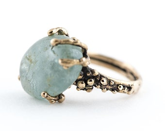Aquamarine Stone Ring - Unique piece