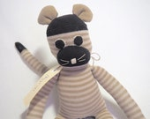 Myron Mouse. Sock toy, sock mouse for young child.  Plush toy animal. Softie.
