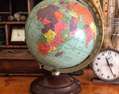 "Vintage 8"" Illuminated World Globe"