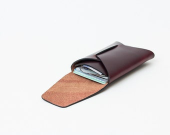 Horween Leather Stitchless Card Carry | Oxblood
