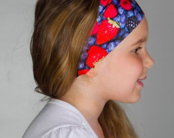 Seamless Non Slip Headband for Running or Yoga // FLAWLESS headbands by Manda Bees - BERRIES