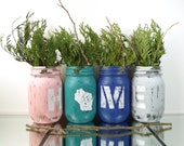 Wisconsin Home - Room Decorations - Wisconsin Decor - Mason Jar Decor - State Pride - Gifts for Home - Rustic Decor - Tabletop Decor