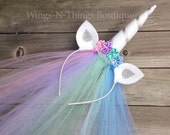CELESTIA UNICORN Princess Pony Headband w/ tulle veil, mlp character, pink, cosplay, hair accessory, girls, toddler, adult, My Little Pony