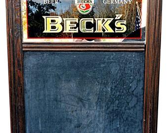 Menu Board Chalkboard Beck's Beer Board Lunch Sign Beer Advertising Bohemian Industrial Advertising