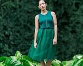 Jen Crop Tank / Hunter Green / Cropped Tank / Jewel Neckline / High Neck Top / Short Tank Top / Matches the Tessa Tutu / Holiday Fashion