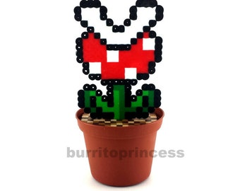 Piranha Plant - Potted Piranha Plant - Super Mario Plant - Super Mario Decoration - Video Game Decoration - Mario Planter - Mario Wedding