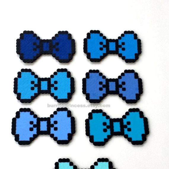8 Bit Hair Bows Pixel Hair Bows 8 Bit Bow Ties Pixel Bow