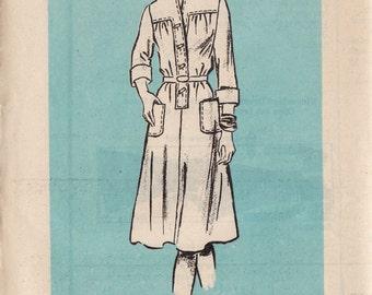 Vintage 1970′s Sewing Pattern - Printed Pattern 4662 - Dress Pattern - Size 18 - Shirt Dress Pattern - 1970s Dress Pattern - Vintage Dress