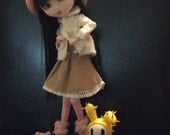 Pullip corduroy travel outfit