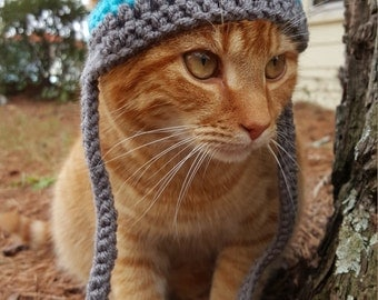 Pom Pom Cat Hat, Pom Pom Hat for Cats, Pom Pom Beanie for Cats, Pom Pom Cat Beanie, Pom Pom Hat for Dogs, Pom Pom Beanie Dog Hat