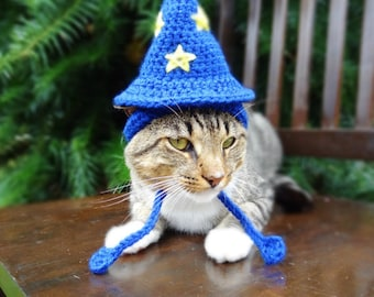 Cat Hat Crochet Pattern, Hat for Cat Crochet Pattern, Wizard Hat for Cat Crochet Pattern, Wizard Crochet Pattern, Pet Crochet Pattern