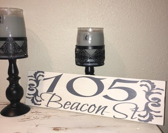 Custom Wood Sign, Address Plaque, House number sign, Outdoor Address Sign, Custom Address Sign, Address Sign, Home Address Sign,