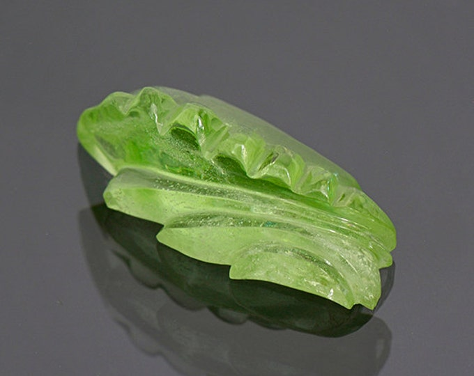 UPRISING SALE! Fantastic Mint Green Peridot Carving from Pakistan 13.34 cts.