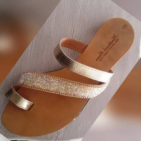 items similar to toe ring sandals platinum gold