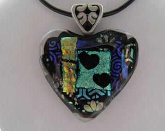 Heart Dichroic Glass Pendant