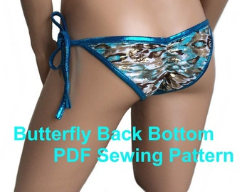 Butterfly Back Bottom (8 Sizes)