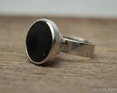 Silver Shungite ring Handmade