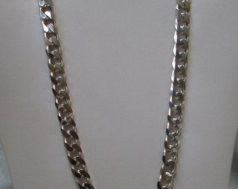 Vintage Heavy 925 Sterling Silver Chain Necklace
