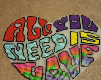 All you need is love perler design