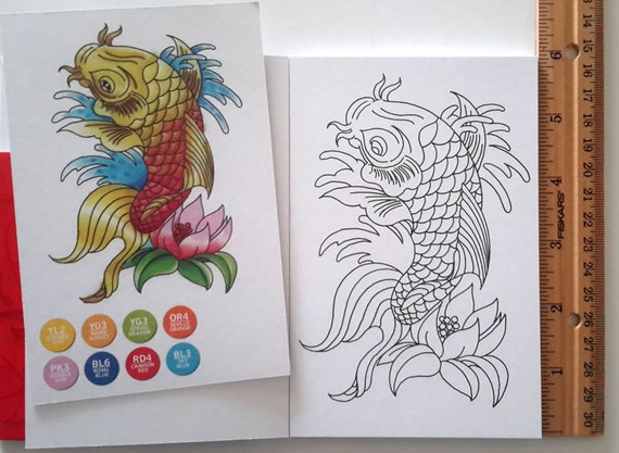 Tattoo color cards by Chameleon, high quality cards to color for art projects