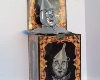Vintage Wizard of Oz Tinman, Musical Tinman Jack In the Box, Collectible