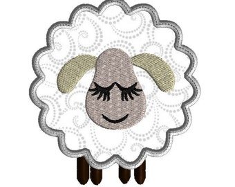 Embroidery Design, Lamb Applique, Embroidery Design, 3 sizes, Machine embroidery, Easter design, Easter lamb
