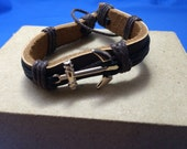 Leather Anchor Bracelet Men Great Fish Extender Gift, FE Gift Disney Cruise Carnival Cruise Royal Caribbean Norwegian Father's Day Dad