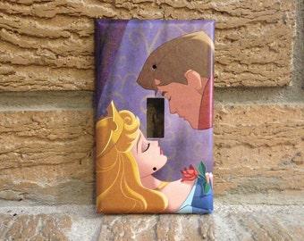 Sleeping Beauty Prince Phillip and Aurora Light Switch Cover, Sleeping Beauty Decor, Princess Aurora, Baby Shower, Princess Nursery, SB17