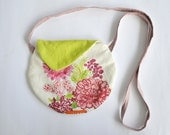 Crossbody purse- small purse - floral shoulder bag - small cross body cotton bag