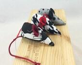 Catnip Mice Toys, Three catnip mice, kitten toy, black white grey red