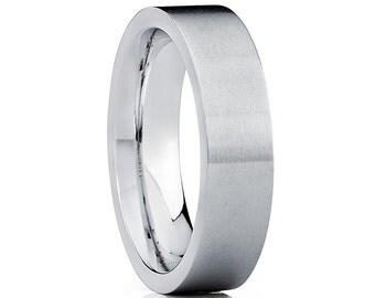 White Titnaium Wedding Band,White Titanium Wedding Ring,Uniqie Titnaium Ring,Brushed Titanium Band,Comfort Fit,Anniversary Ring,Engagement