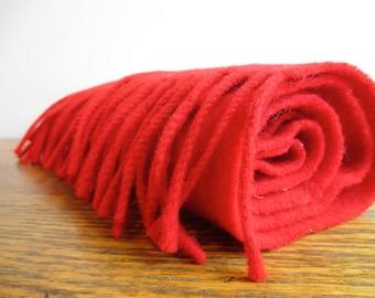 Vintage Red Wool Begg of Ayr Scarf